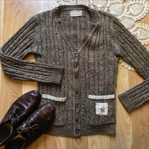 ✨Vintage Up-cycled Cable Knit Cardigan✨